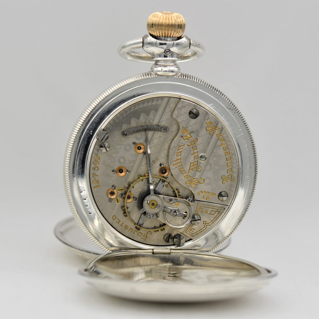 HAMILTON Sterling Silver Pocket Watch Pocket Watches - Ashton-Blakey Vintage Watches