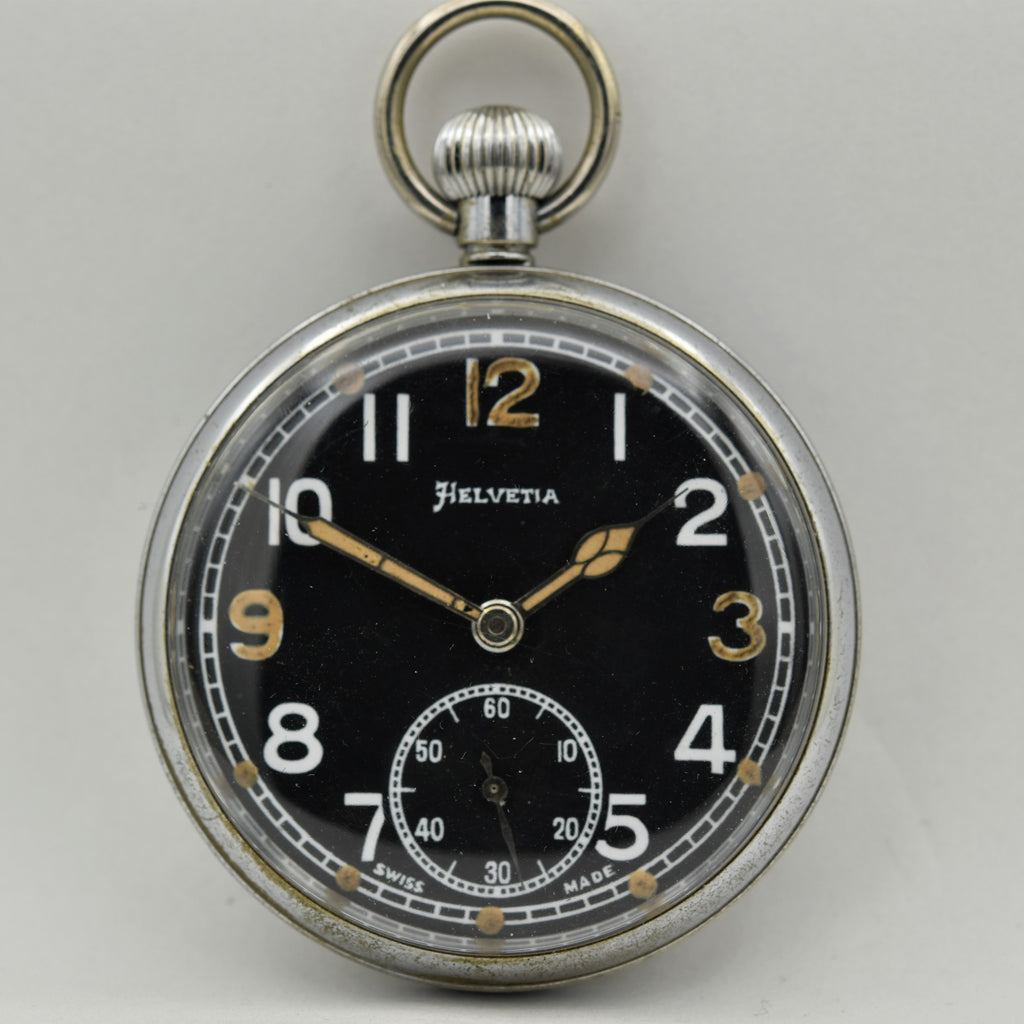 HELVETIA MILITARY Pocket Watch Pocket Watches - Ashton-Blakey Vintage Watches