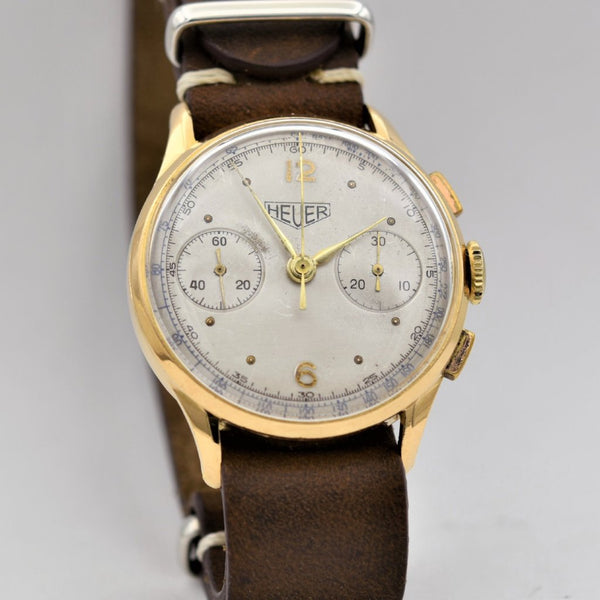 HEUER 18K Gold Chronograph Vintage Watches - Ashton-Blakey Vintage Watches