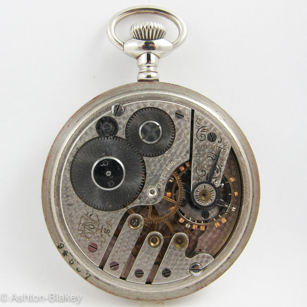 TRENTON open faced size 16 Pocket Watch