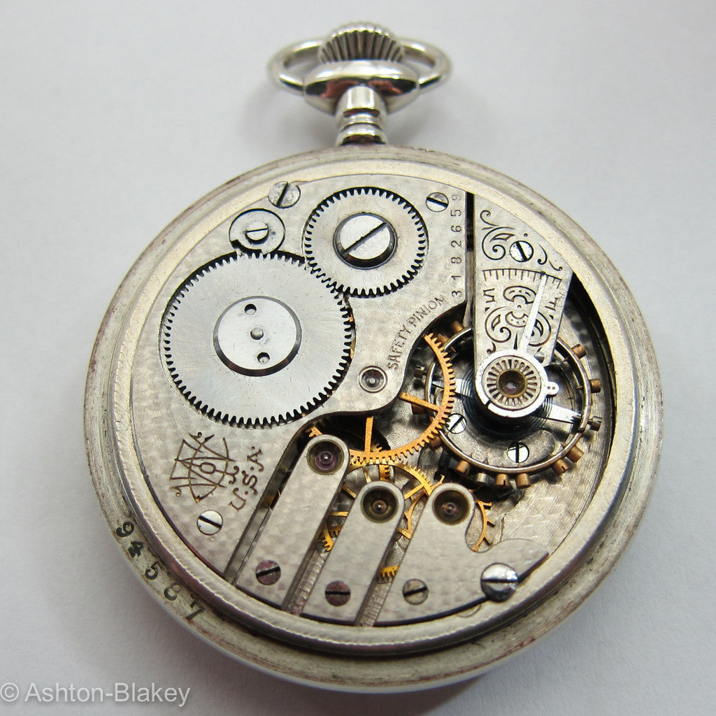 TRENTON open faced size 16 Pocket Watch Pocket Watches - Ashton-Blakey Vintage Watches