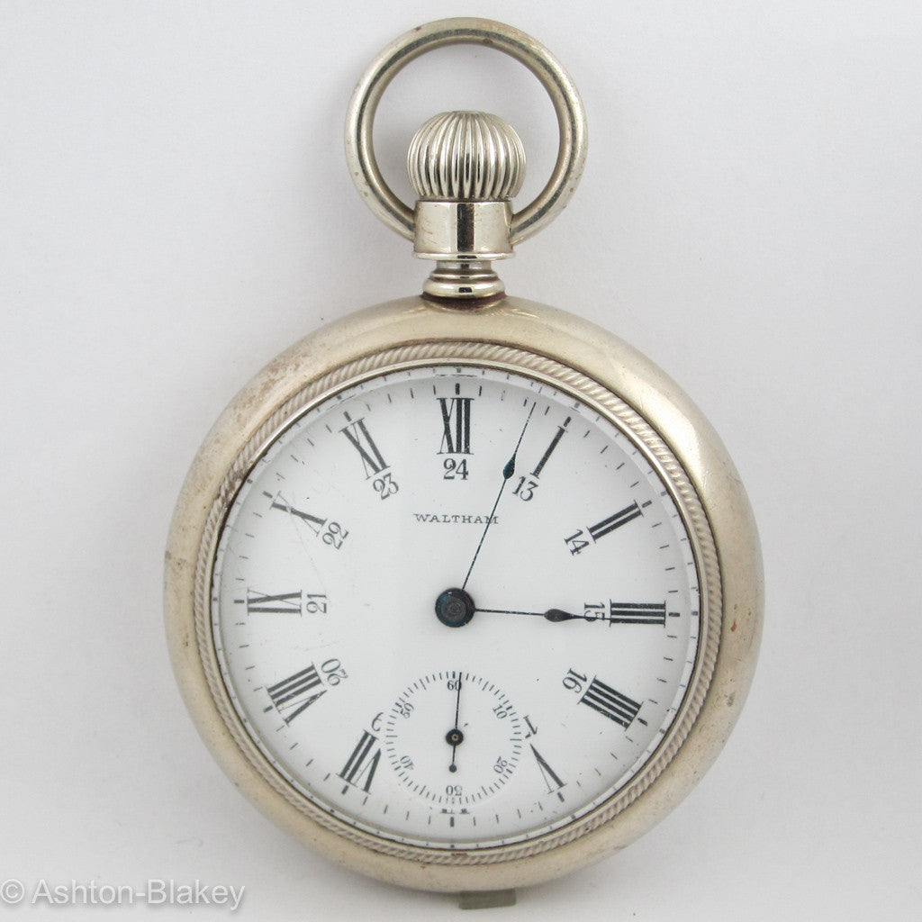 Waltham Silveroid open faced Pocket Watch