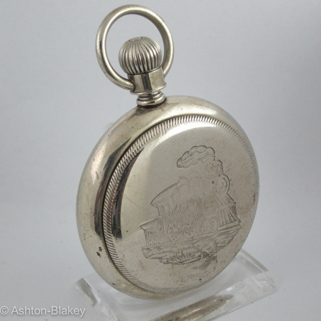 Waltham Silveroid open faced Pocket Watch Pocket Watches - Ashton-Blakey Vintage Watches