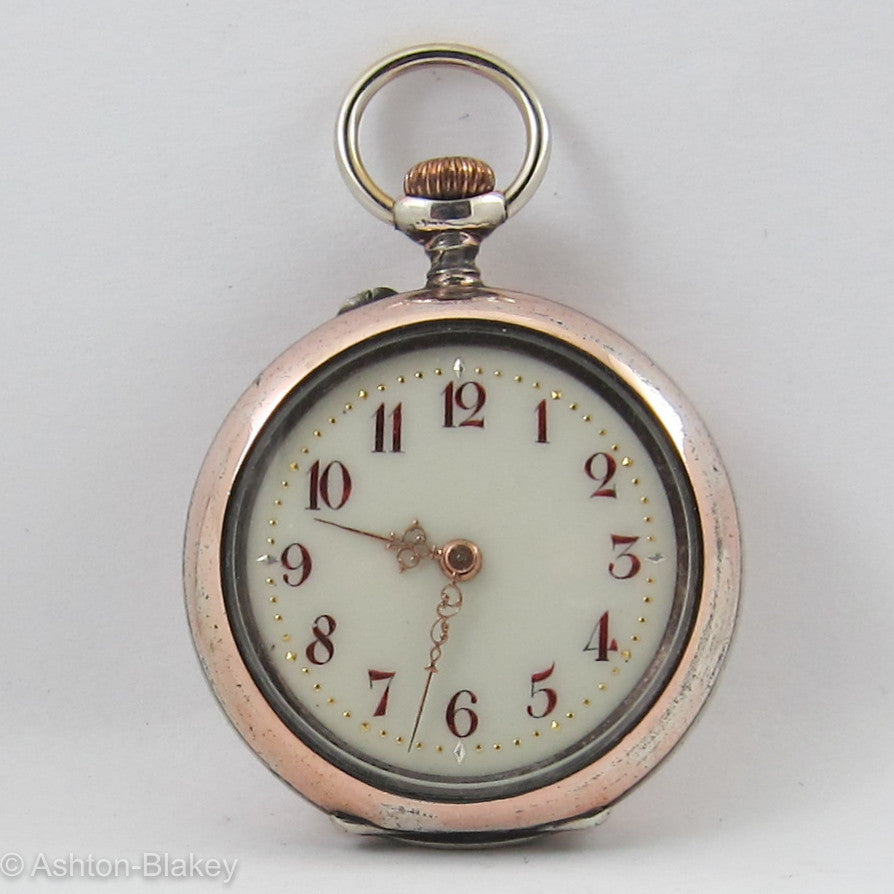 Swiss Rose Gold Pocket Watch