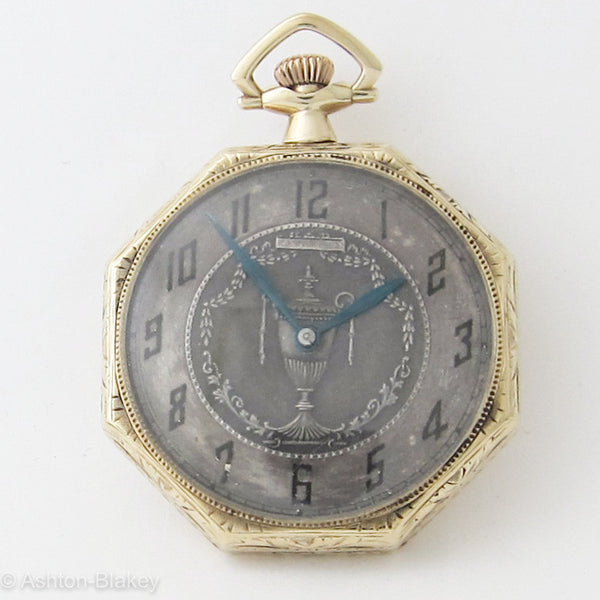 Waltham Art Deco 14K gold Pocket Watch