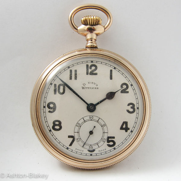 WITTNAUER Men's vintage 8 day Pocket Watch Pocket Watches - Ashton-Blakey Vintage Watches