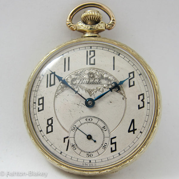 BIRKDALE man's open faced size 12 Pocket Watch Pocket Watches - Ashton-Blakey Vintage Watches