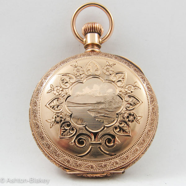 WALTHAM 14K SOLID GOLD  Pocket Watch Pocket Watches - Ashton-Blakey Vintage Watches