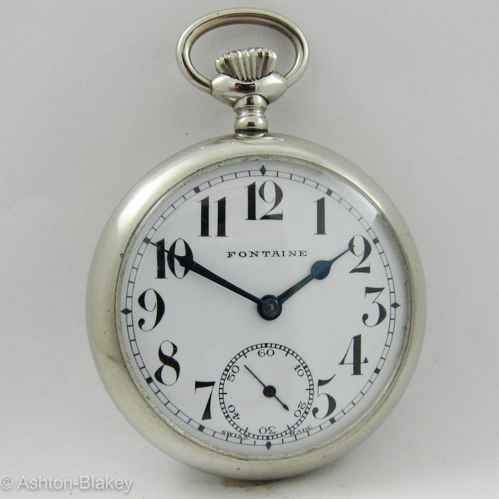 SWISS size 16 open faced man's Pocket Watch Pocket Watches - Ashton-Blakey Vintage Watches