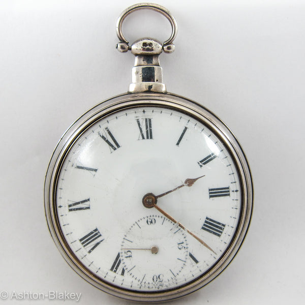 SILVER PAIR CASE VERGE Pocket Watch Pocket Watches - Ashton-Blakey Vintage Watches