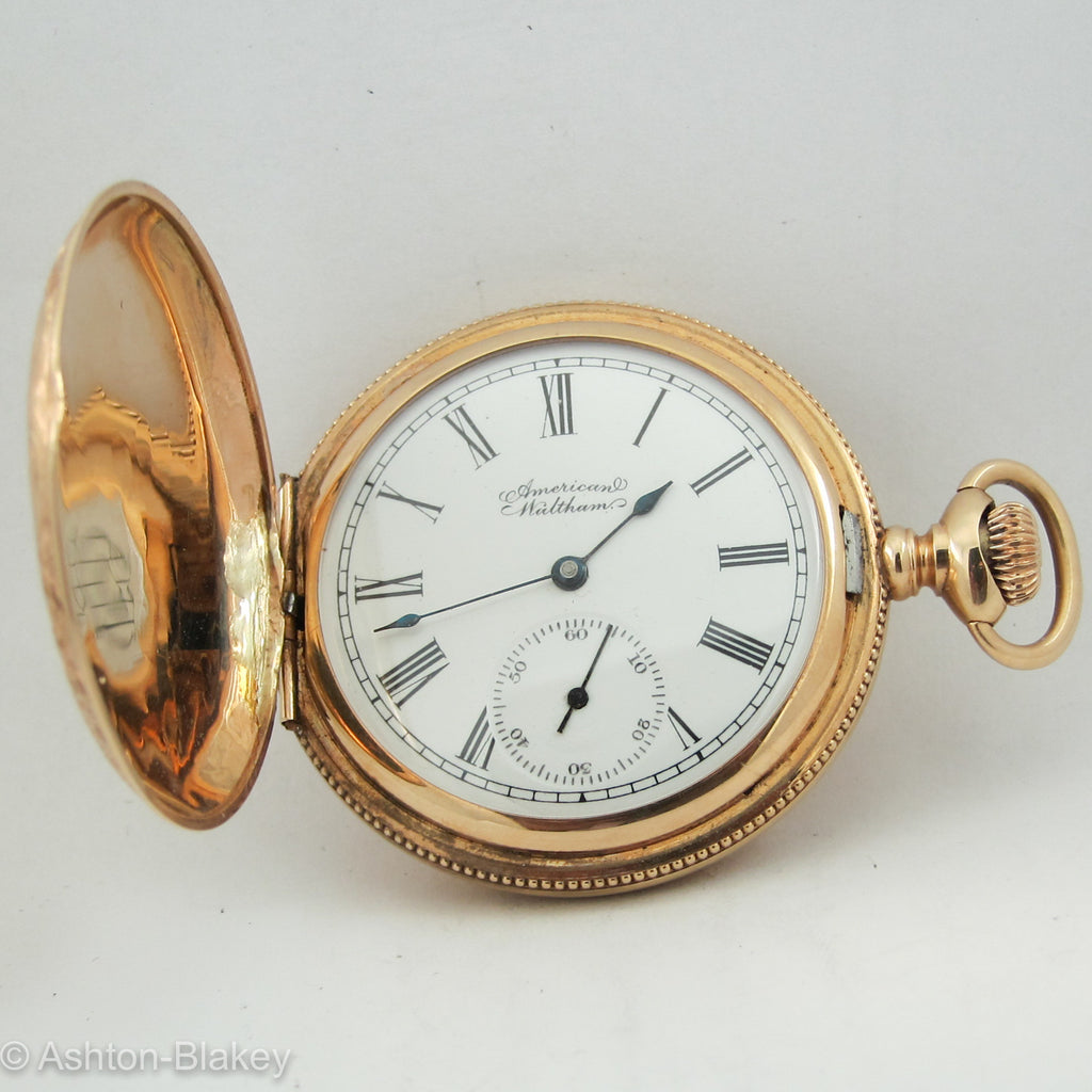 WALTHAM 14K Solid rose Gold Pocket Watch Pocket Watches - Ashton-Blakey Vintage Watches