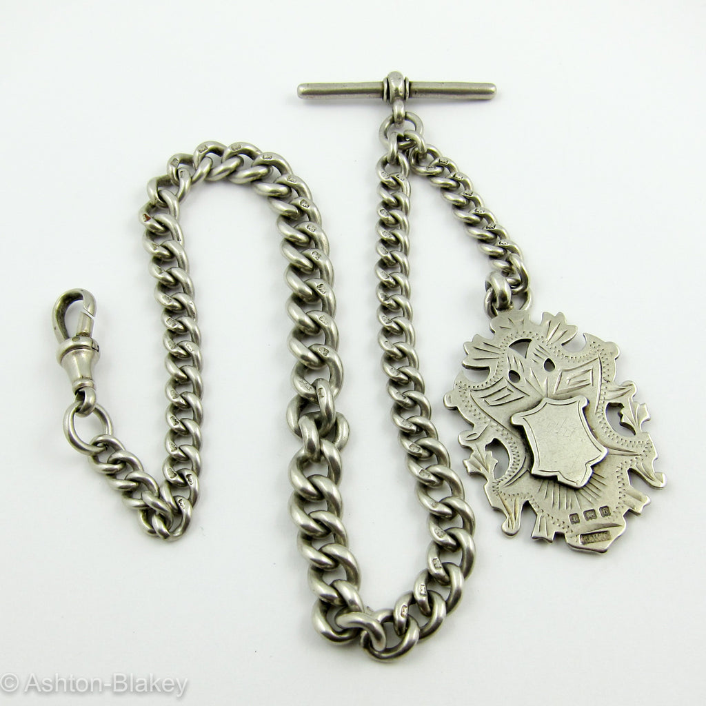 Very heavy Pocket Watch chain with graduated links