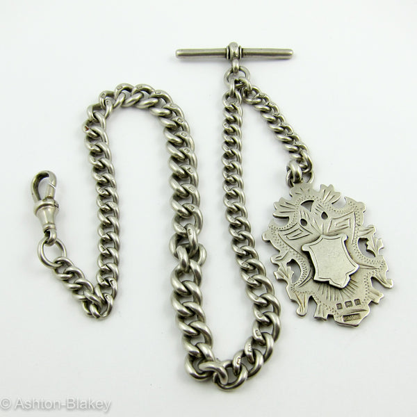 ENGLISH STERLING Very heavy Pocket Watch Chain Jewelry - Ashton-Blakey Vintage Watches