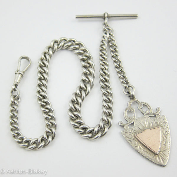 Sterling Silver antique English Pocket Watch chain Jewelry - Ashton-Blakey Vintage Watches