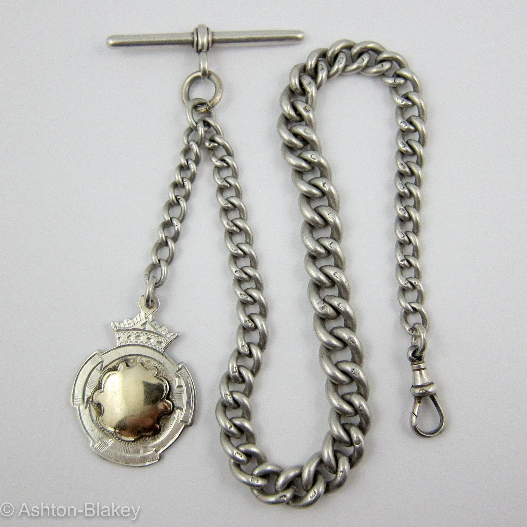 ... English Sterling Silver Antique Pocket Watch chain Jewelry -  Ashton-Blakey Vintage Watches ... 7e5ed2653340