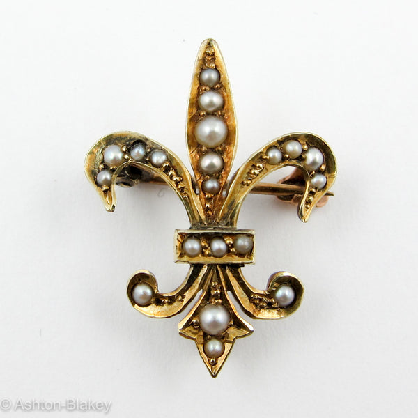 Fleur-de-lis watch pin 14K Jewelry - Ashton-Blakey Vintage Watches