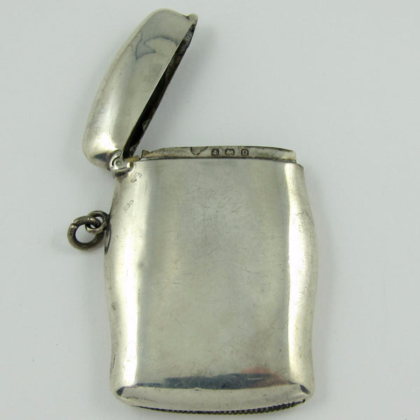 ENGLISH Sterling silver Match Safe hallmarked Birmingham Jewelry - Ashton-Blakey Vintage Watches