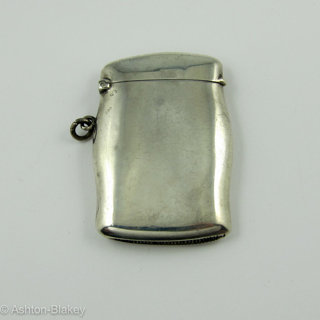 ENGLISH Sterling silver Match Safe hallmarked Birmingham
