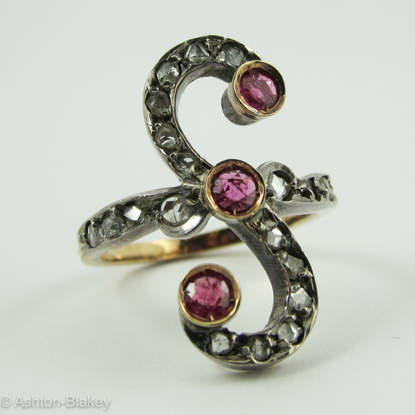 COCKTAIL RING - with diamonds and rubies Jewelry - Ashton-Blakey Vintage Watches