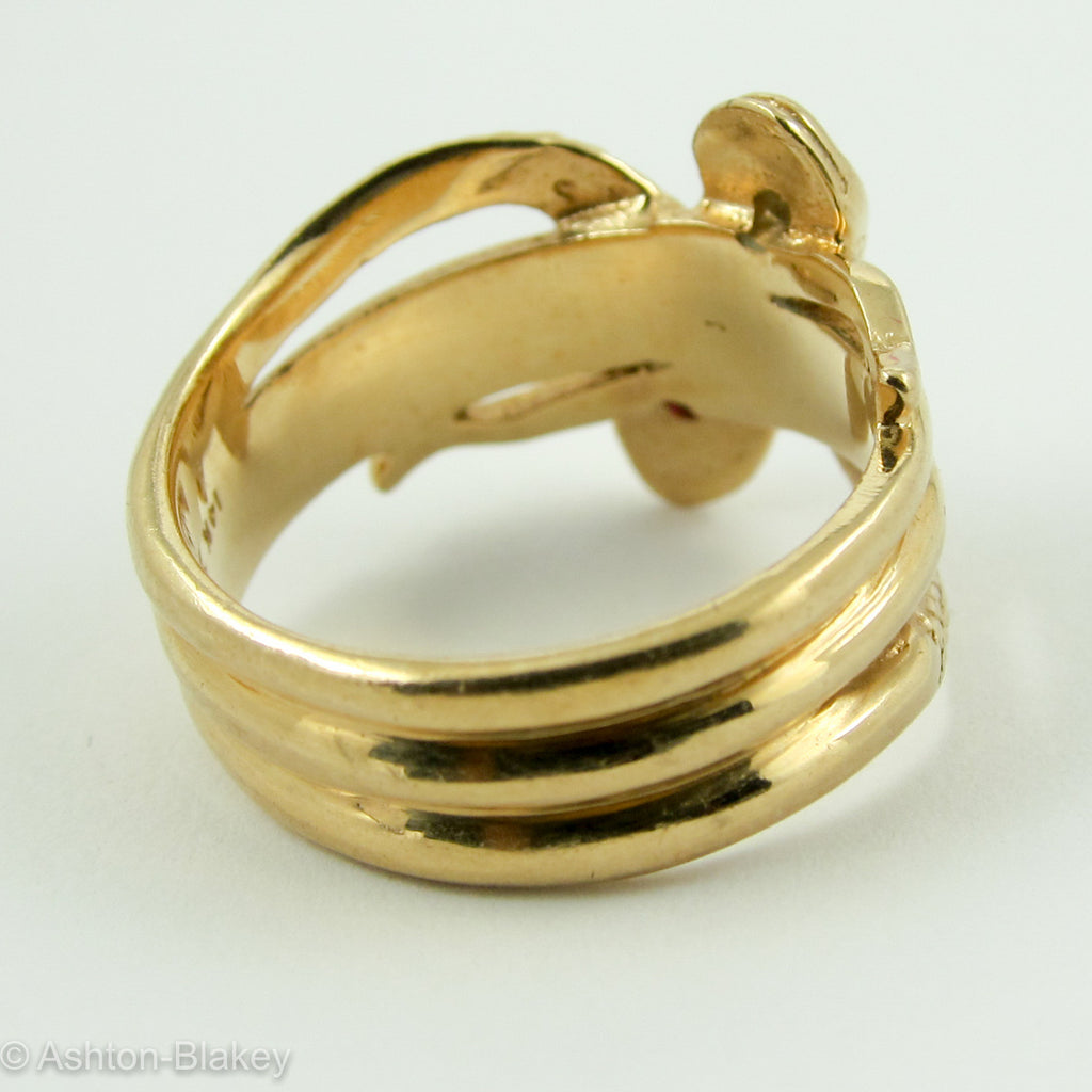 Man's/Ladies 14K Double Snake Ring