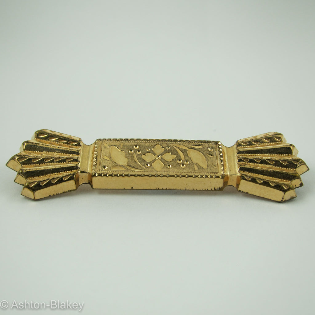 Victorian 14K Gold filled Bow Tie Bar Pin Jewelry - Ashton-Blakey Vintage Watches
