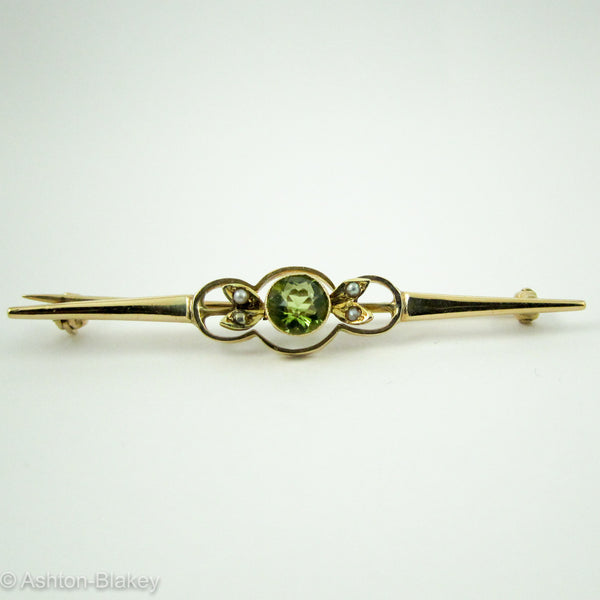 14K Victorian Bar Pin Jewelry - Ashton-Blakey Vintage Watches