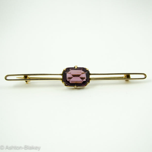 14K Amethyst Bar Pin Jewelry - Ashton-Blakey Vintage Watches