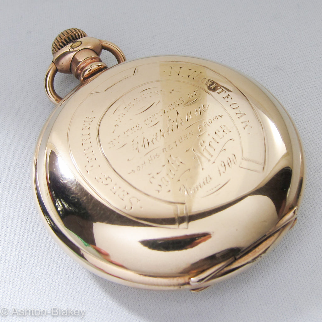 Waltham Pocket Watch with historical inscription