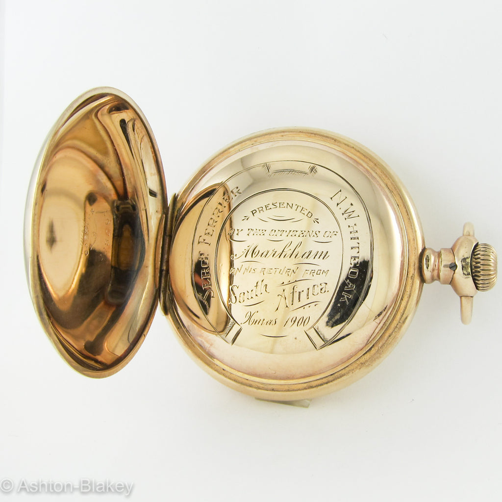 Waltham Pocket Watch with historical inscription Pocket Watches - Ashton-Blakey Vintage Watches