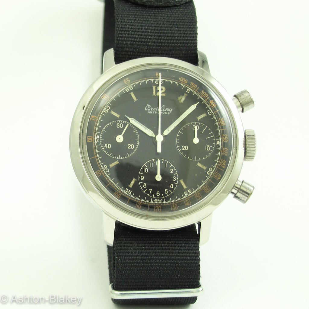 BREITLING Three Register Chronograph Vintage Watches - Ashton-Blakey Vintage Watches