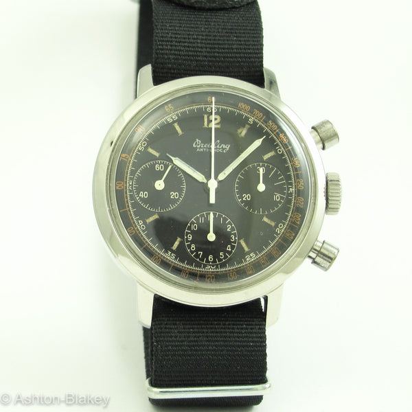 BREITLING Three Register Chronograph Vintage Watch Wrist Watches - Ashton-Blakey Vintage Watches