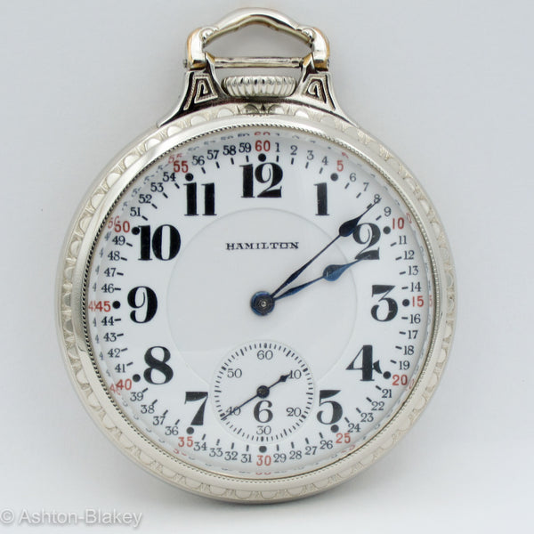 HAMILTON Railroad Pocket Watch Pocket Watches - Ashton-Blakey Vintage Watches