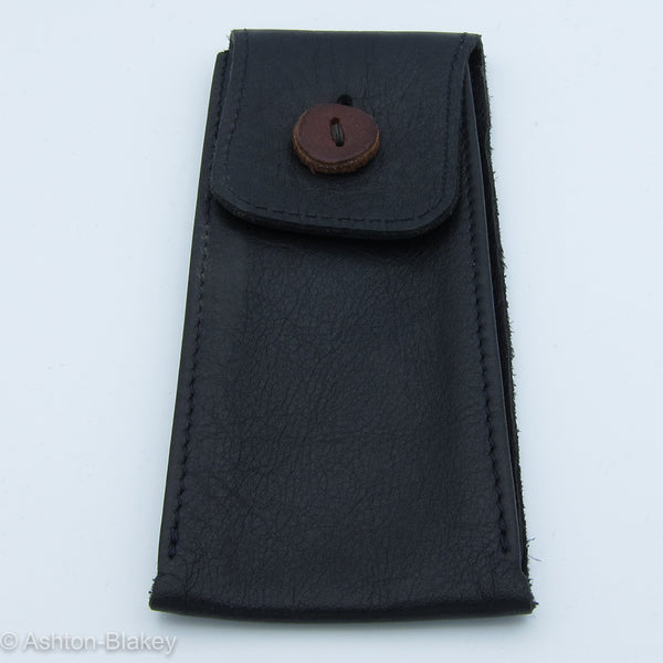 Hand Stitched Leather Pouch - Black  - Ashton-Blakey Vintage Watches