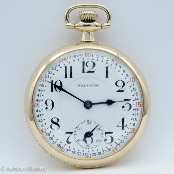 WALTHAM Railroad  Pocket  Watch Pocket Watches - Ashton-Blakey Vintage Watches
