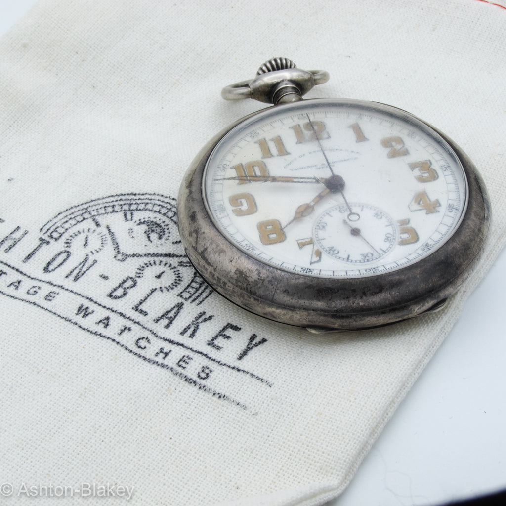 VACHERON & CONSTANTIN CORPS OF ENGINEERS MILITARY CHRONOGRAPH Pocket Watches - Ashton-Blakey Vintage Watches