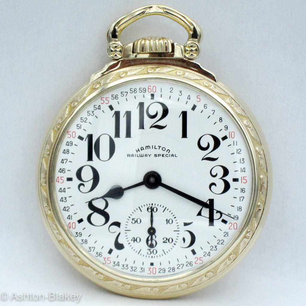 "HAMILTON ""RAILROAD SPECIAL""   Pocket Watch Pocket Watches - Ashton-Blakey Vintage Watches"