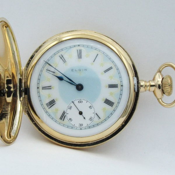 ELGIN Multicolor Dial Man's Pocket Watch