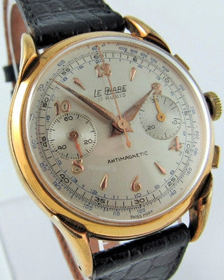 LE PHARE – SWISS CHRONOGRAPH Vintage Watch Vintage Watches - Ashton-Blakey Vintage Watches