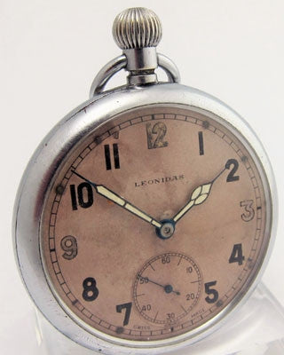LEONIDAS LL2032 CIRCA 1939 LEONIDAS WWII British Military Pocket Watch Pocket Watches - Ashton-Blakey Vintage Watches
