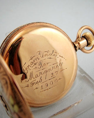 ELGIN Multi Color 14K gold filled Pocket Watch Pocket Watches - Ashton-Blakey Vintage Watches