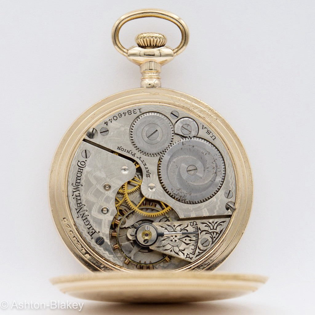 ELGIN MEN'S POCKET WATCH - Multicolor dial Pocket Watches - Ashton-Blakey Vintage Watches