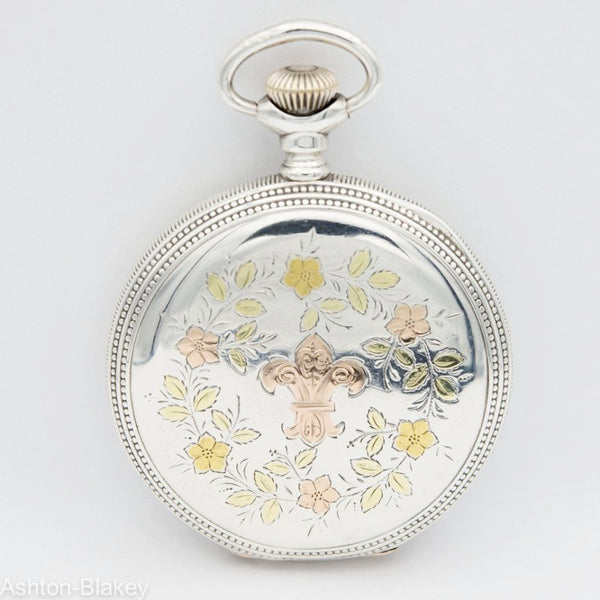 HAMPDEN Sterling Silver Multicolor Pocket Watches - Ashton-Blakey Vintage Watches