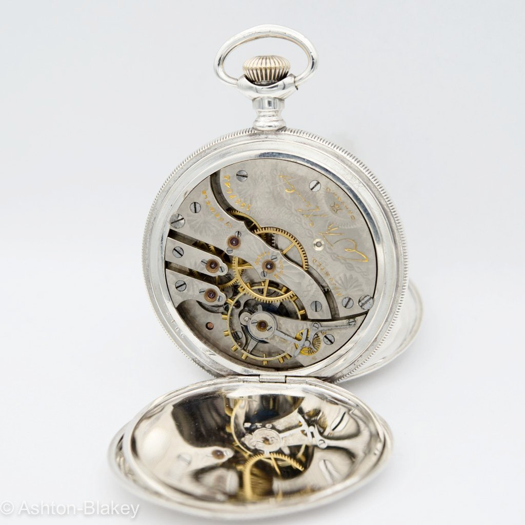 HAMPDEN Sterling Silver Multicolor                           SOLD Pocket Watches - Ashton-Blakey Vintage Watches