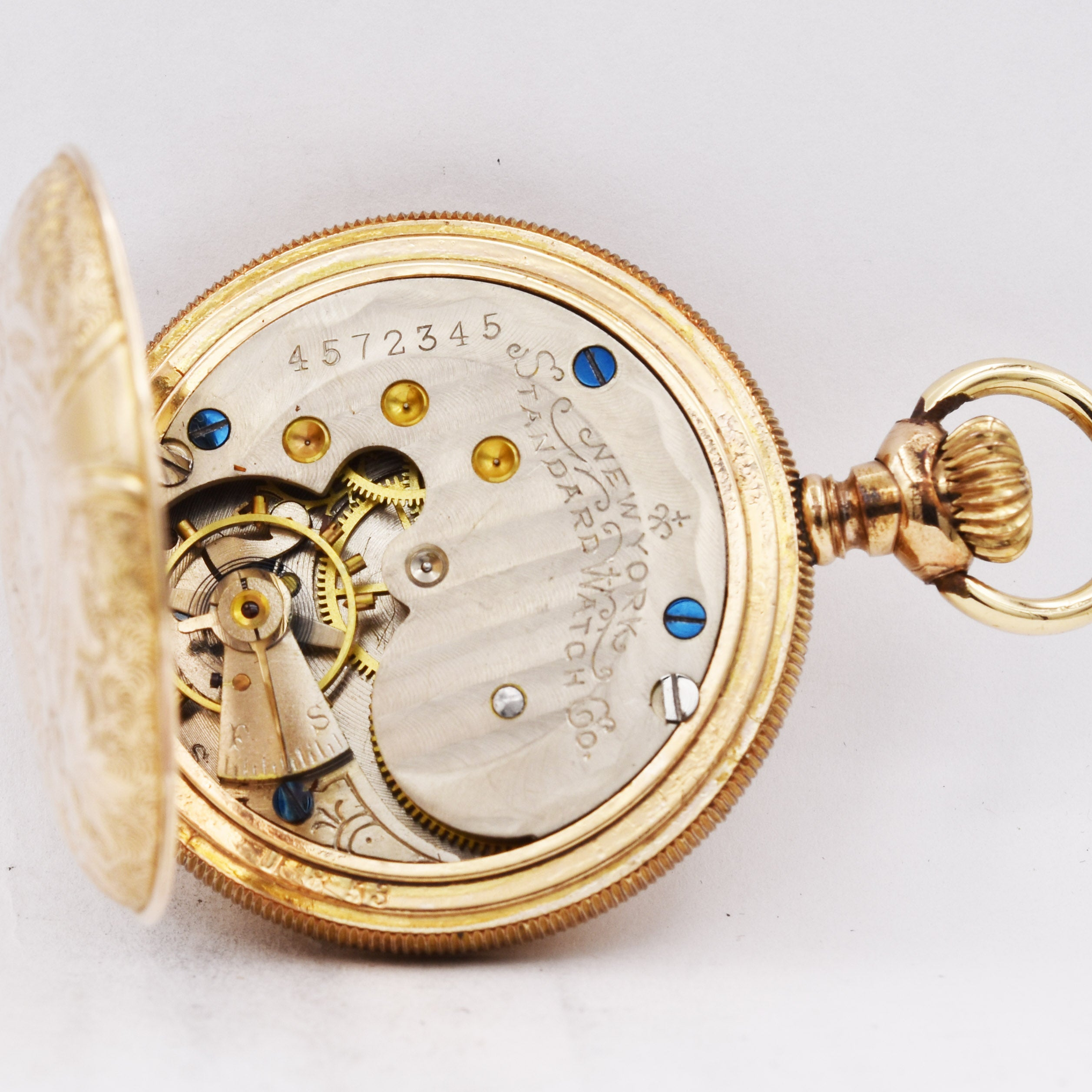 Antique Vintage New York Standard Pocket Watch 7 Jewel Gold Filled As Is Pocket Watches