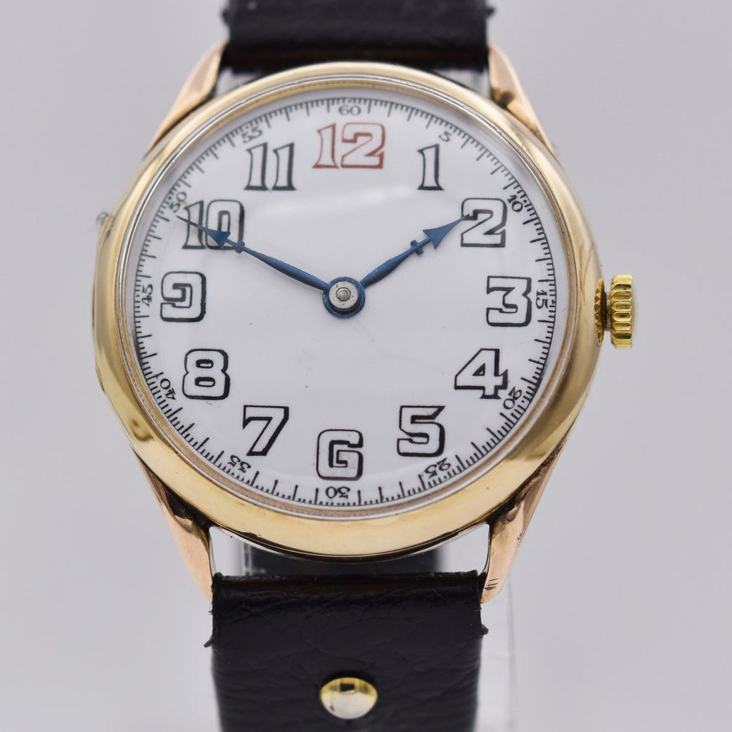 SWISS 9K GOLD WRIST WATCH