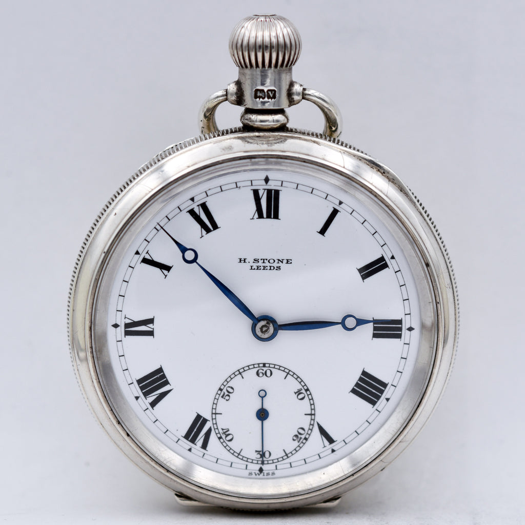 ENGLISH STERLING POCKET WATCH Pocket Watches - Ashton-Blakey Vintage Watches