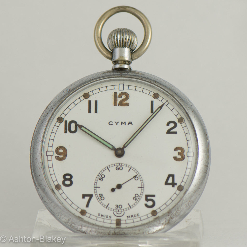 CYMA World War II military Pocket Watch Pocket Watches - Ashton-Blakey Vintage Watches