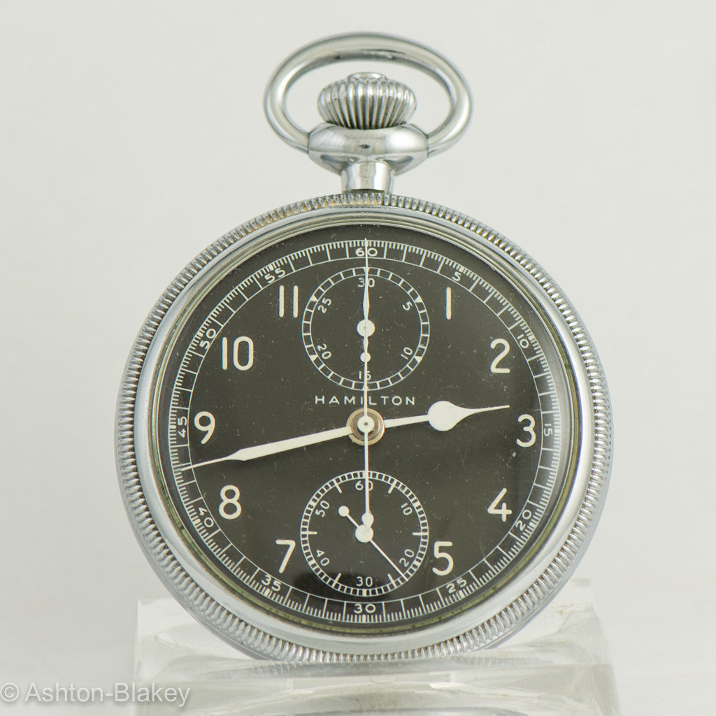 HAMILTON MODEL 23 MILITARY CHRONOGRAPH Pocket Watch Pocket Watches - Ashton-Blakey Vintage Watches