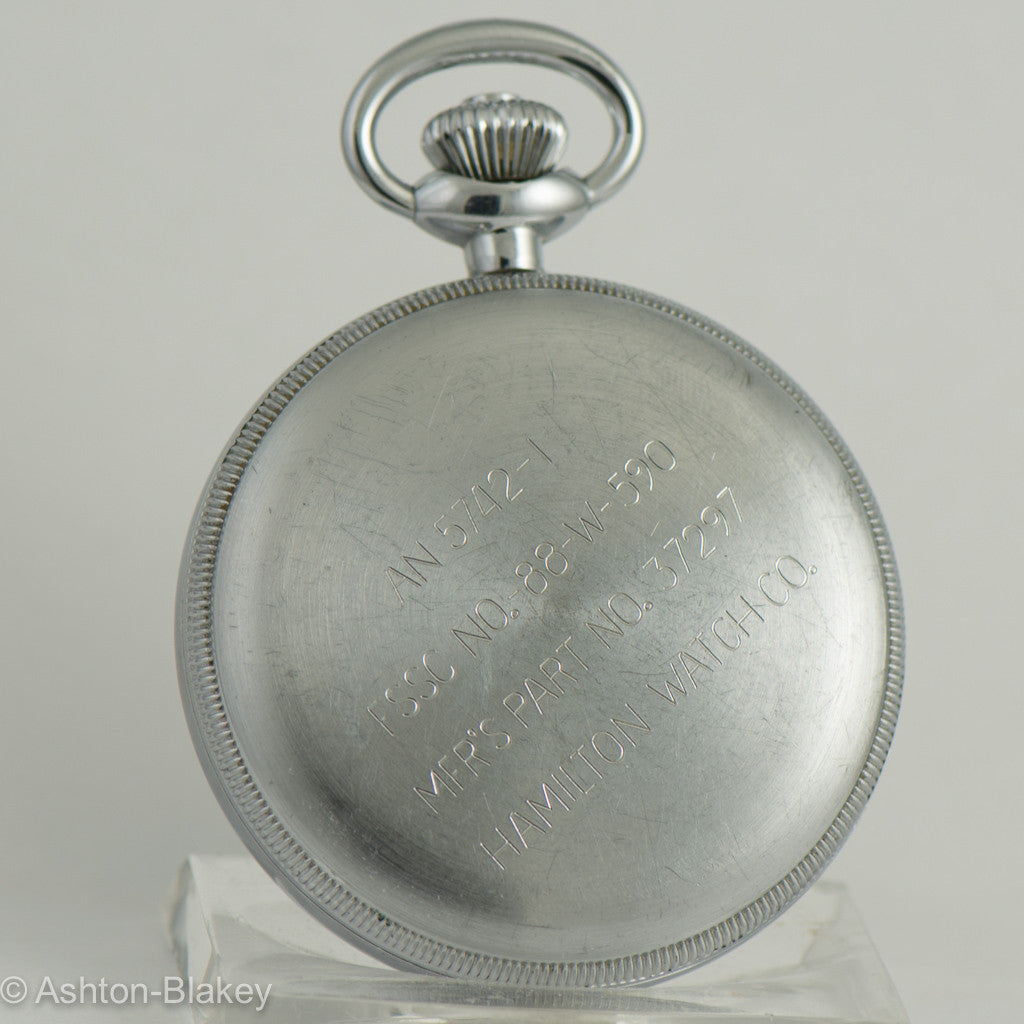 HAMILTON MODEL 23 MILITARY CHRONOGRAPH Pocket Watch