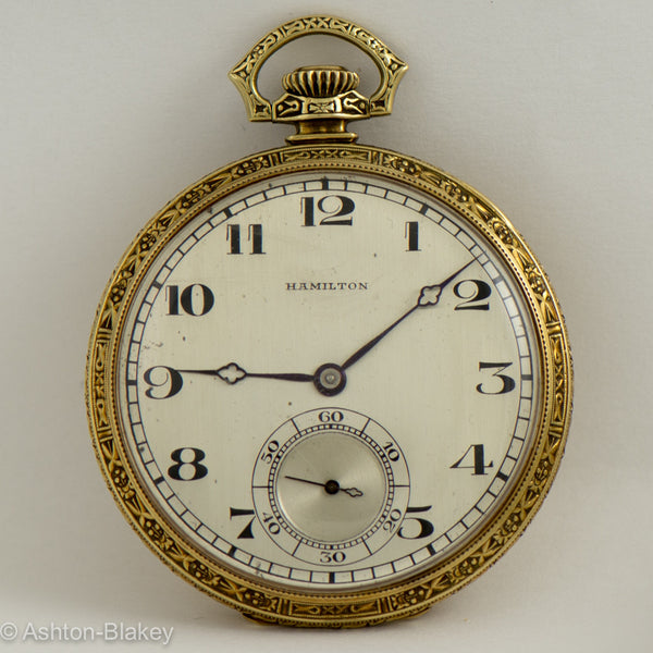 HAMILTON 14K gold Pocket Watch Pocket Watches - Ashton-Blakey Vintage Watches
